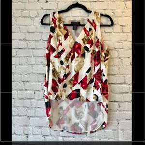 W.H.B.M. Silk abstract floral blouse